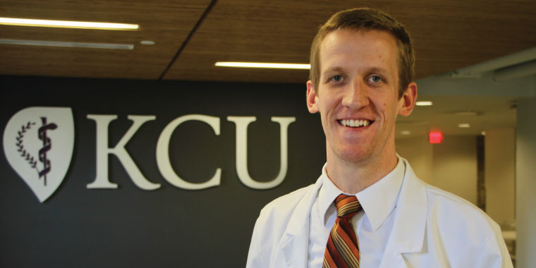 Medical student Jameson Bastow at KCU