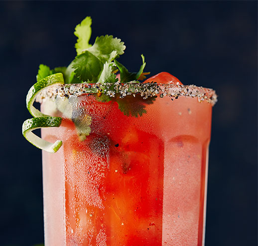 Smoked Lime & Tequila Caesar