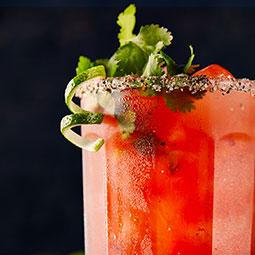 Caesar fumé à la tequila et à la lime