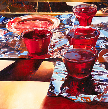 Mary Pratt, Red Currant Jelly (1972), oil on Masonite, 45.9 x 45.6 cm ...
