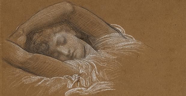 Frederic Leighton, Étude d'Iphigénie pour Cymon et Iphigenia (detail), 1883