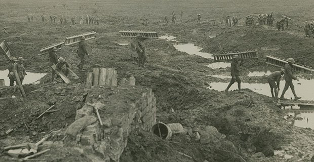 William Rider-Rider, Casemate blindés détruits, Passchendaele, Belgique (détail), 1917