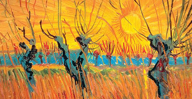 Vincent van Gogh, Saules au coucher du soleil (détail), 1888