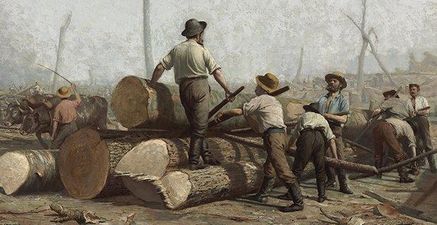 George A. Reid, Défrichage (détail), 1888