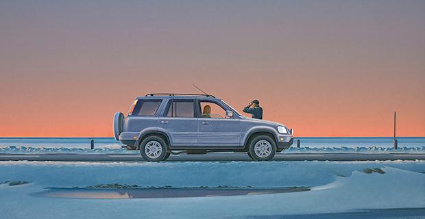 Christopher Pratt, Sunset at Squid Cove (detail), 2004
