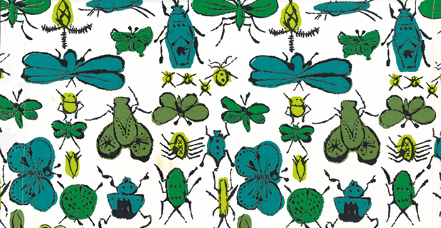 Andy Warhol, Happy Bug Day (détail), v. 1955