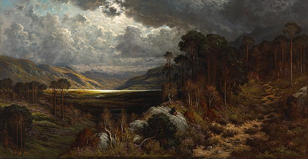 Gustave Doré, Souvenir de Loch Lomond (détail), 1875