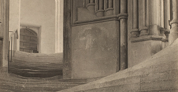Frederick H. Evans, Wells Cathedral: A Sea of Steps (detail), 1903