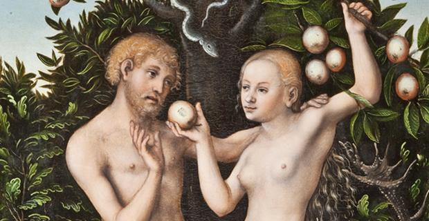 Lucas Cranach the Elder, Adam and Eve (detail) [1538]