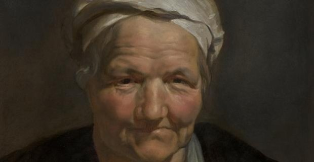 Peter Paul Rubens, Head of an Old Woman (1612) [detail]