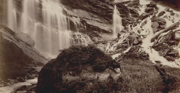Benjamin F. Baltzly, Lower Falls of Garnet River Cascade, near Mount Cheadle (detail) [1871]
