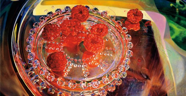 Mary Pratt, Raspberries Reflecting Summer (detail) [2000]