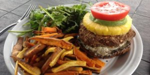 Black Bean, Navy Bean Burger