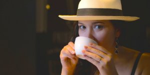 woman, tea