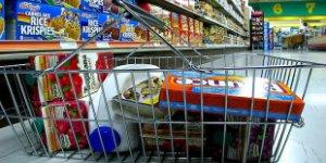 grocery basket, packaged food