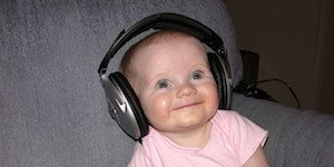 baby, headphones