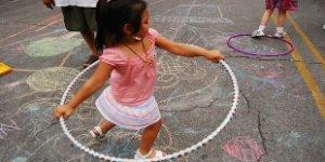 hoola hoop, little girl