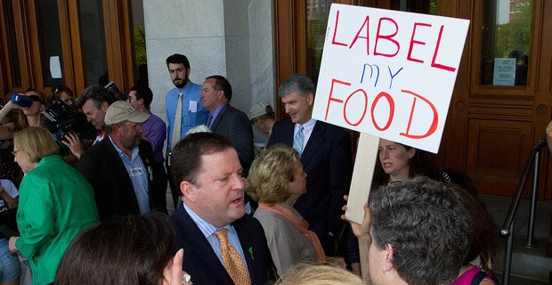 gmo labeling protest sign