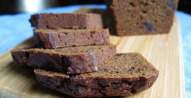 Pumpkin Bread with Molasses and Cranberries