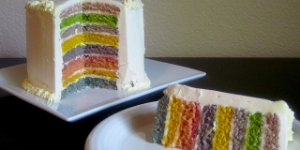 rainbow cake, natural food color