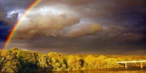rainbow, storm