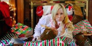 woman, Christmas, sad