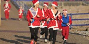 santa outfits, running