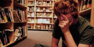 teenager, teenage boy, library