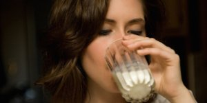 woman, milk