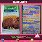 [Label Lesson] Veggie Sausage Patties