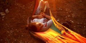 woman, hammock