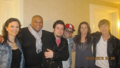 Naturally Savvy's Andrea Donsky and Randy Boyer pose for a photo with American Idol contestants Michael Lynche, Lee DeWyze, Andrew Garcia, and Alex Lambert. Photo: Naturally Savvy.
