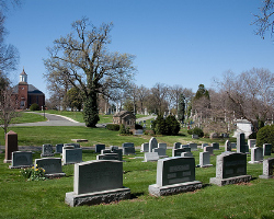 Traditional burial plots like the one at this cemetery require a lot more space than vertical plots. Photo: cliff1066 via Flickr.com.
