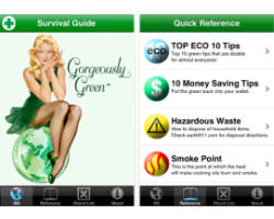 There are lots of great iPhone apps to help you go green. Photo: Courtesy of Gorgeously Green Survival Guide.