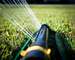 Most people over-water their lawn. Photo: Robert S. Donovan / Flickr.com.