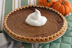 A pumpkin pie recipe that will please a crowd on any holiday, provided by Teeccino
