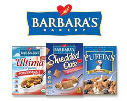 Barbaras Bakery cereal shredded oats puffins ultima organic natural living Cereal Brands Fiber