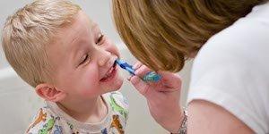 kid, child, toothbrush