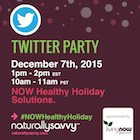 NOW Foods #NOWHealthyHoliday Twitter Party December 7