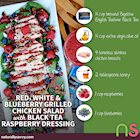 Red, White and Blueberry Grilled Chicken Salad with Black Tea Raspberry Dressing