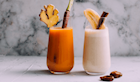 Battle of the Smoothies: Tahini-Date vs Carrot-Mango-Ginger?