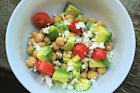 Chickpea Salad with Avocado, Tomatoes and Feta