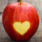 apples with hearts