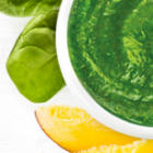 Delicious Spinach, Mango and Pear Green Smoothie Bowl for Baby (and Mom!)