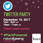 Kura Nutrition #PlantPowered Twitter Party