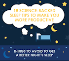 [Infographic] 18 Science-Backed Sleep Tips to Make You More Productive