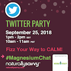 #MagnesiumChat Twitter Party with Natural Vitality