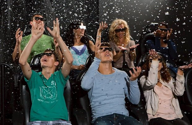iPlay America: Have a seat in the multi-sensory 4D Motion Theater and let it transport you to another dimension.
