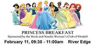 Join NJ Kids: 2017 Princess Breakfast at Riverdell Middle School, February 11,09:30-11:00am