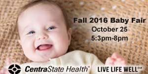 Join NJ Kids: Fall Baby Fair at CentraState Healthcare System Oct 25, 5:30pm-8pm